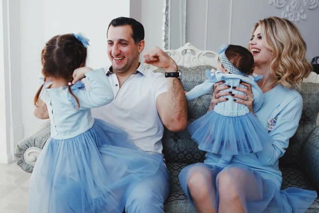 Арарат Кещян с семьей