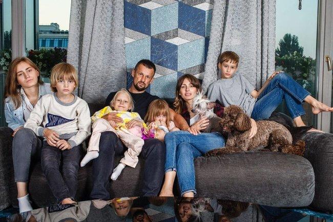 Семак с семьей