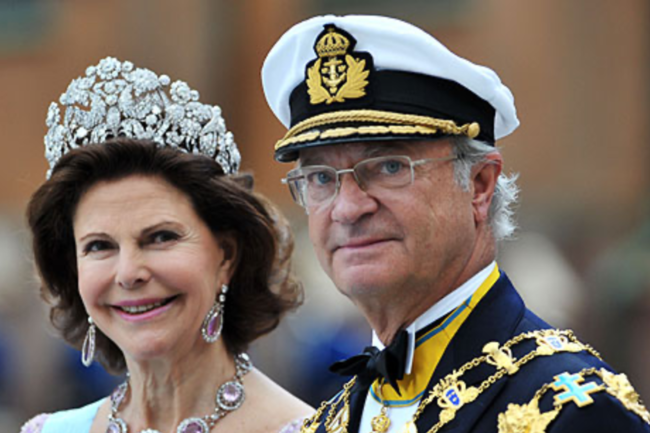 Сильвия Зоммерлат и Король Карл XVI Густав