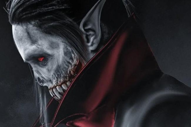 "Фан-арт постер к фильму ""Морбиус, живой вампир"" 2020"