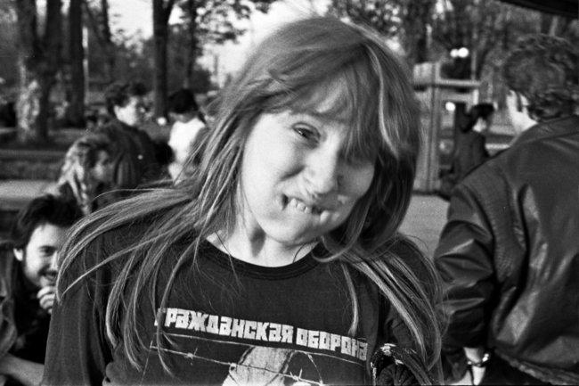 Янка Дягилева Симферополь, апрель 1989 (в т.ч. концерт в ДК МВД 22.04.1989). Фото А. Чугуй и А. Кадников