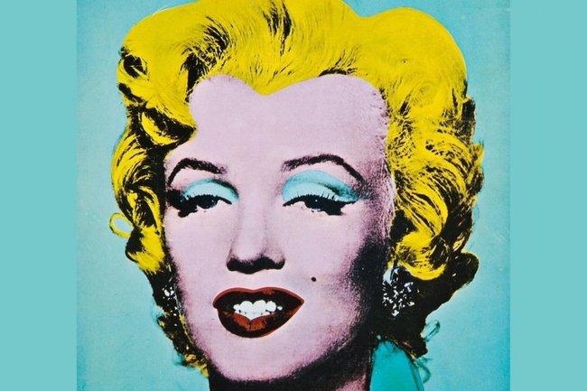 """Энди Уорхол """"Зеленая Мэрилин"""" (1962 г.) - акриловые краски, чернила для шелкографии, лен - 50.8 x 40.6 см. - Национальная галерея искусства, Вашингтон, США"""