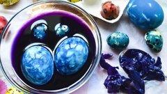 Как красить яйца краснокочанной капустой