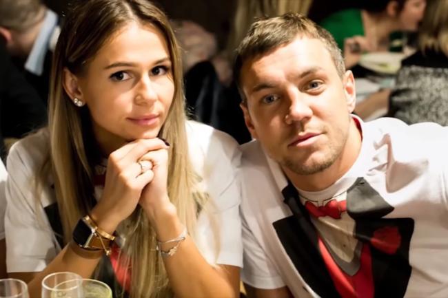 Артём Дзюба и Кристина Дзюба